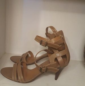 DvF Camel Strappy Sandals Size 9.5